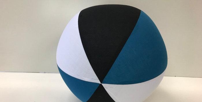 Balloon Ball AFL - Black White Jade - Port Adelaide