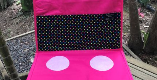 Kids Travel Oven - Pink Oven - Black Backing Coloured Tiny Dots