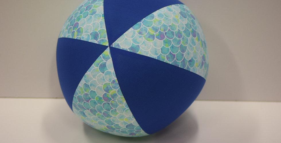 Balloon Ball - Mermaid Scales Blue -  Royal Blue Panels