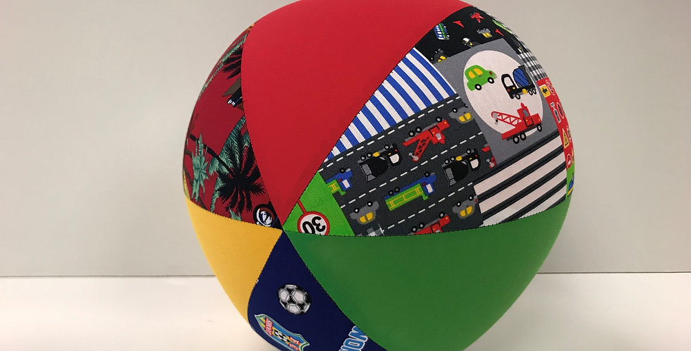 Balloon Ball Large - Surf Cars Traffic Cars Soccer with Red Yellow Green Panels