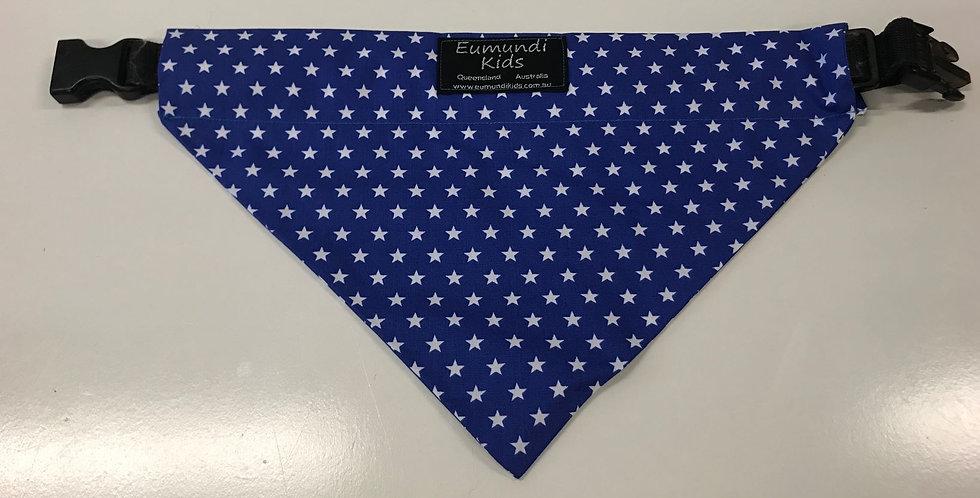Dog Bandana Large - Blue with White Stars