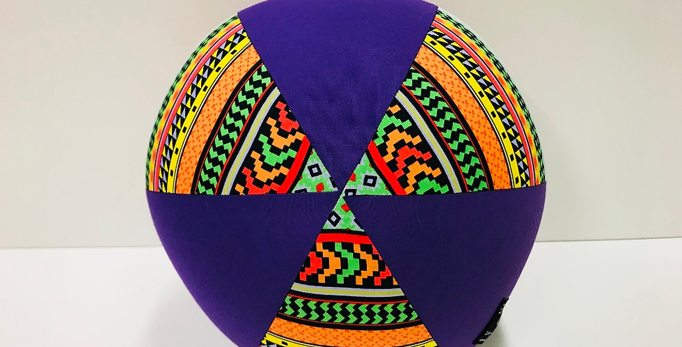Balloon Ball - Bright Aztec with Purple Panels