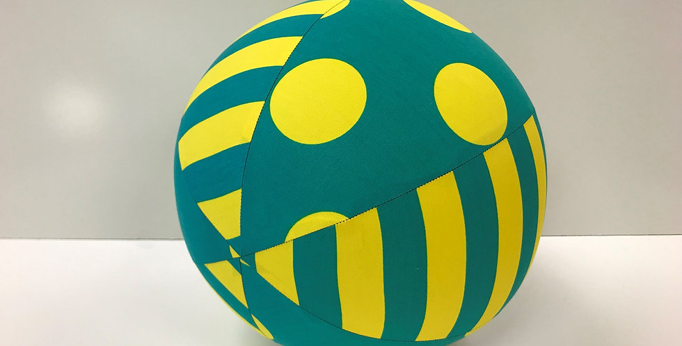 Balloon Ball - Green Yellow Dots Stripes