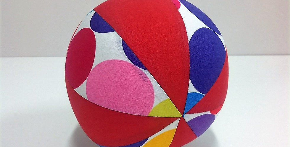 Balloon Ball Small - Large Coloured Dots with Red Panels