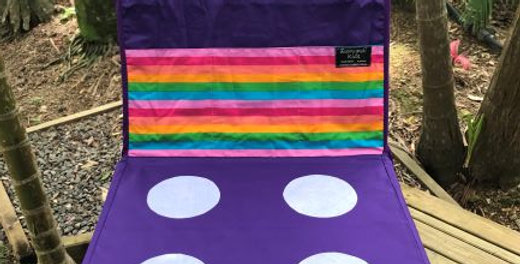 Kids Travel Oven - Purple - Bright Rainbow Stripe