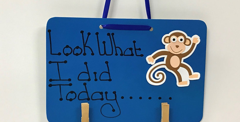 Monkey - Blue Board - Blue Ribbon