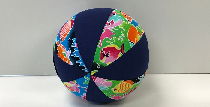 Balloon Ball Small - Tropical Fish with Navy Blue Panels