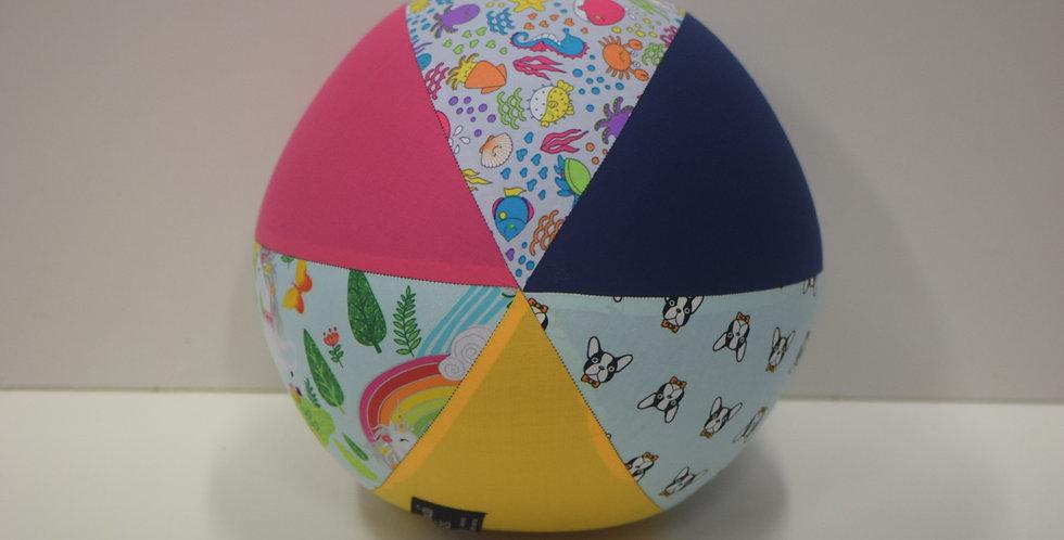 Balloon Ball Large - Dogs Unicorns Sea Life Pink Yellow Blue Panels