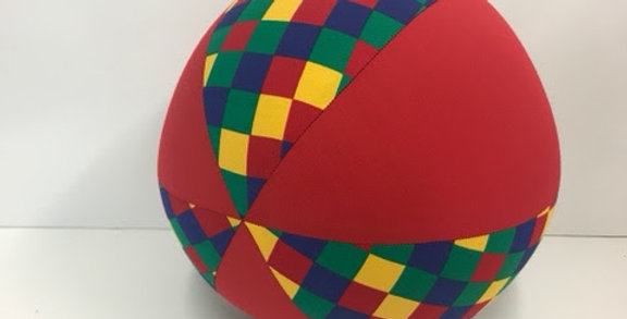 Balloon Ball - Harlequin with Red Panels
