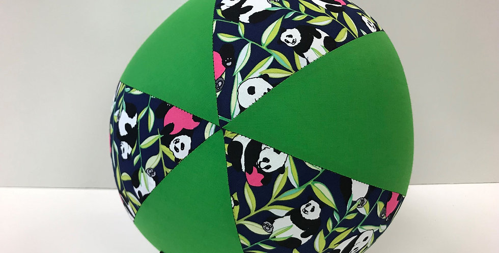 Balloon Ball - Panda Bears on Navy with Apple Green Panels