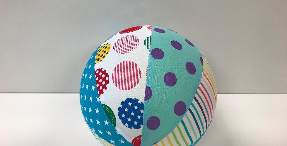 Balloon Ball Medium - Stars Dots Rainbow Stripes
