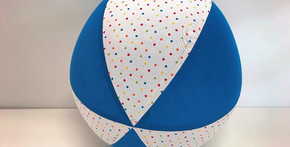 Balloon Ball - White Coloured Dots Aqua Panels