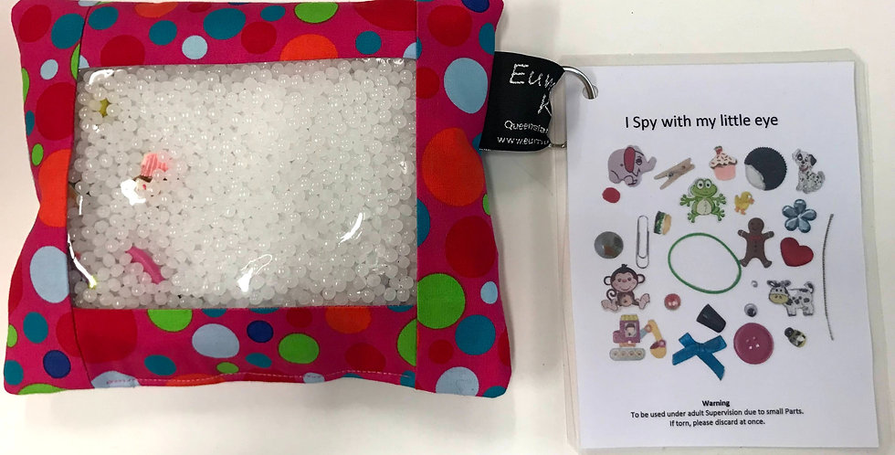 I Spy Pad - Hot Pink with Coloured Dots