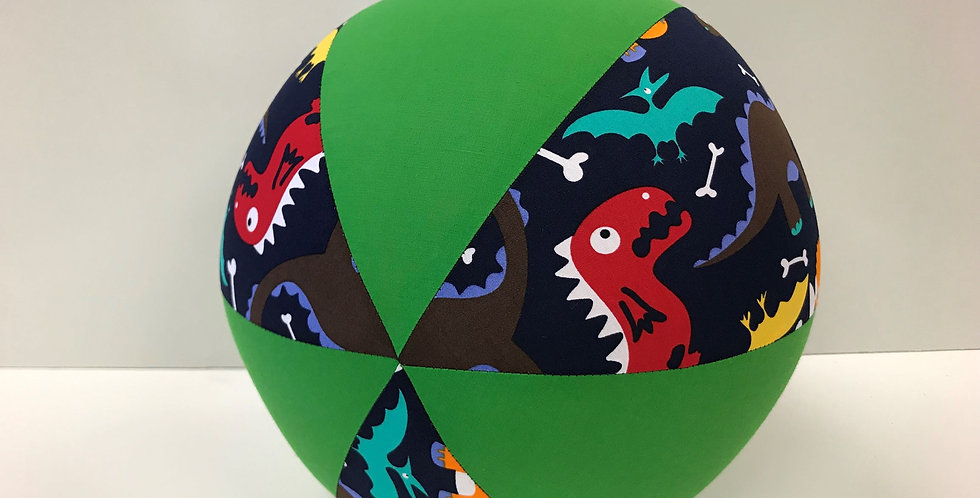 Balloon Ball - Baby Dinosaurs Navy with Apple Green Panels