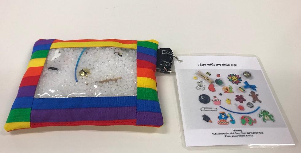 I Spy Pad - Bright Rainbow Stripe