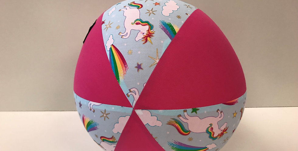 Balloon Ball - Unicorns with Hot Pink Panels