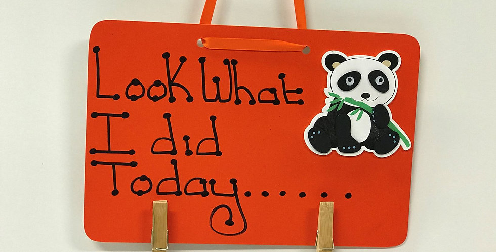 Panda - Orange Board - Orange Ribbon
