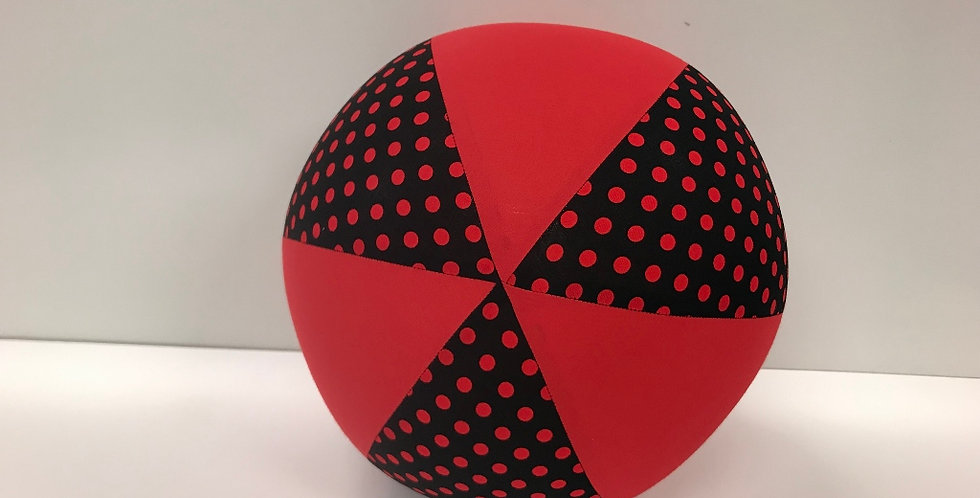 Balloon Ball - Black Red Dots Red Panels