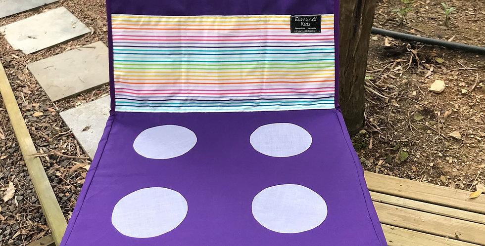 Kids Travel Oven - Purple Oven - Thin Rainbow Stripes