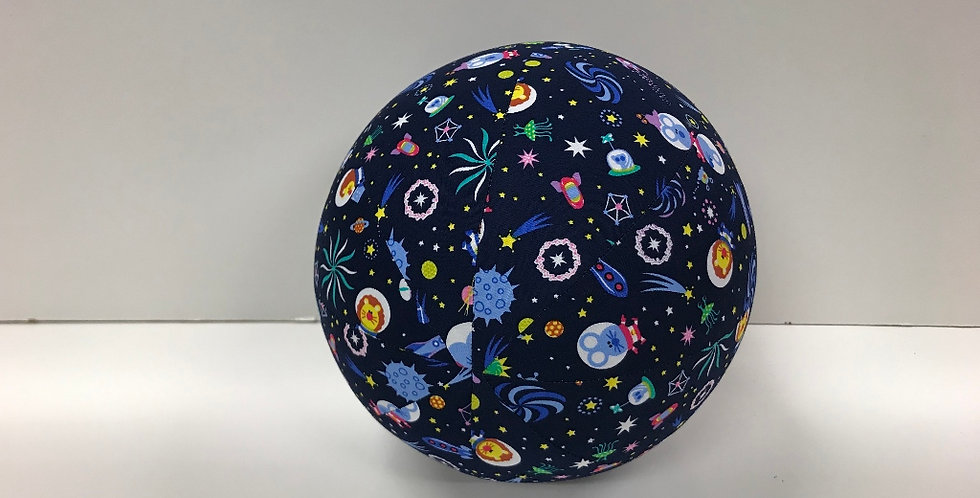 Balloon Ball Medium - Space Rockets Stars Animals Navy Blue