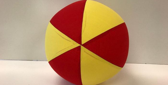 Balloon Ball AFL - Red Yellow - Gold Coast Suns
