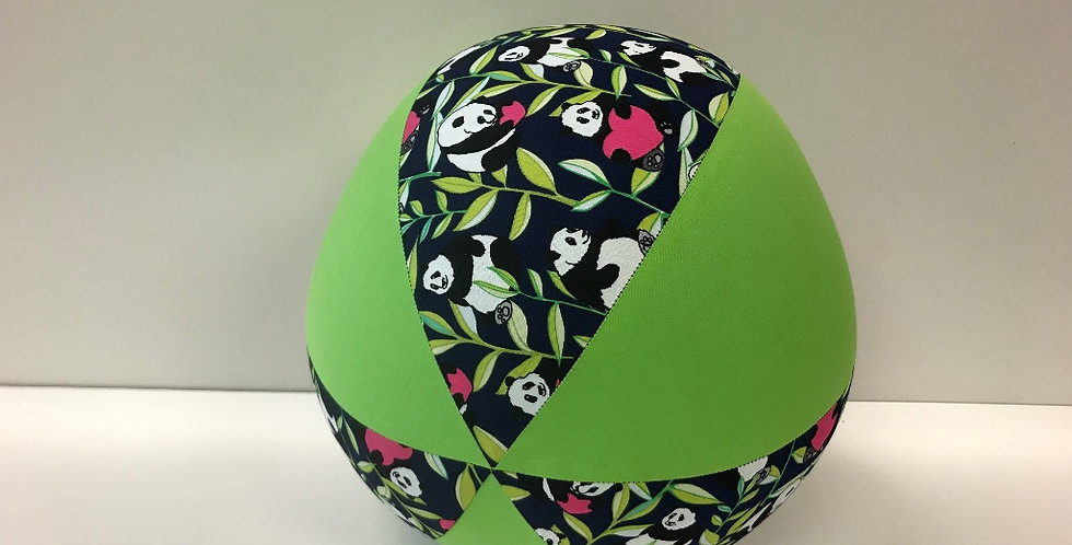 Balloon Ball - Panda Bears on Navy with Lime Green Panels