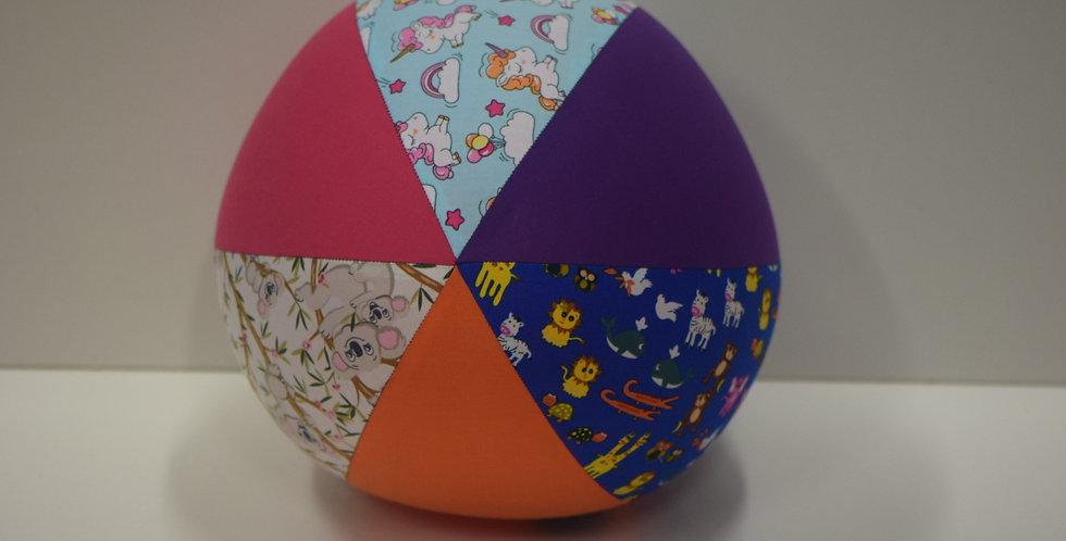 Balloon Ball Large - Koalas Unicorns Animals Pink Orange Purple Panels