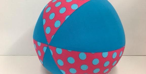 Balloon Ball - Pink Aqua Dots with Aqua Panels