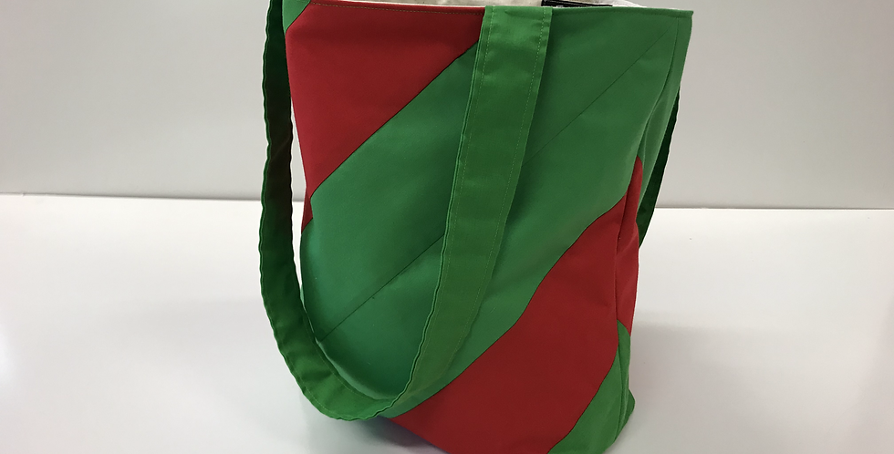 Library Reader Tote Bag - Red and Green