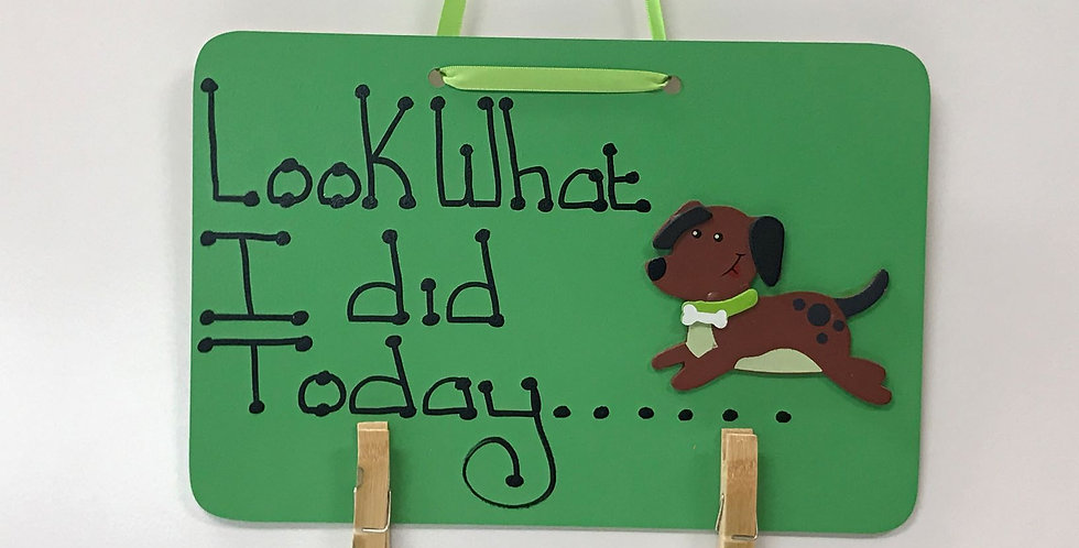 Dog Running - Green Board - Green Ribbon