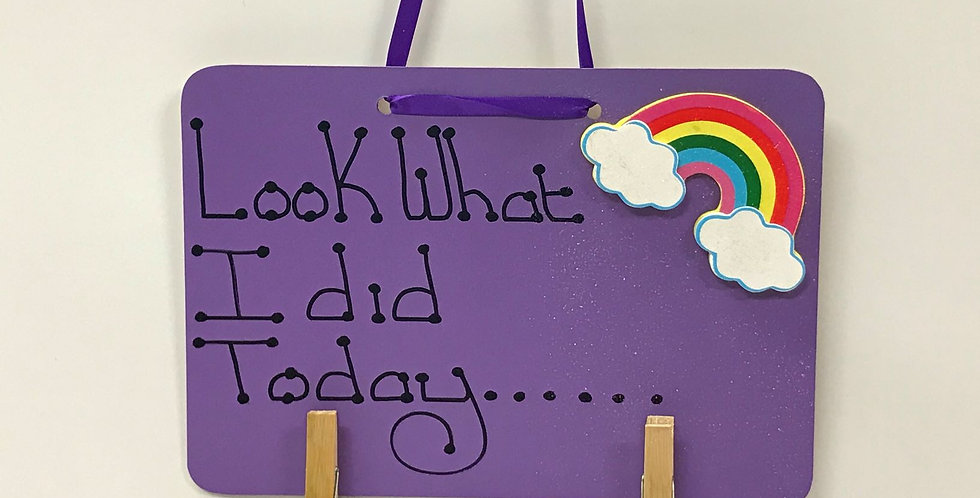 Rainbow - Purple Board - Glitter - Purple Ribbon