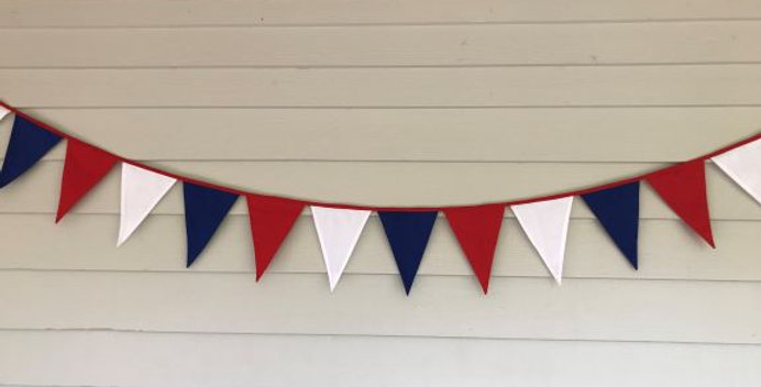 Bunting - Red White Blue - AFL Western Bulldogs Doggies