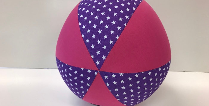 Balloon Ball - Purple White Stars with Hot Pink Panels