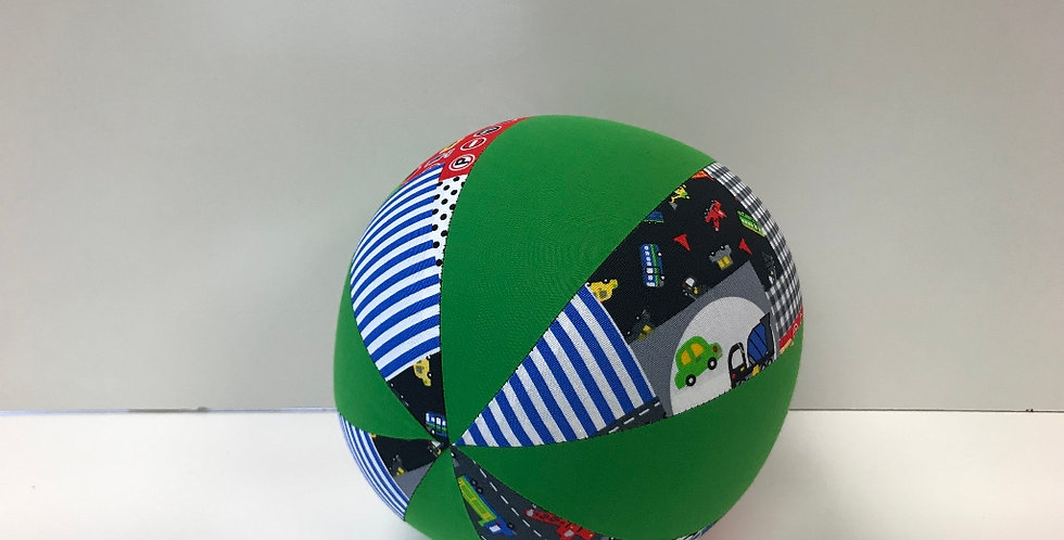 Balloon Ball Medium - Traffic Cars Buses with Apple Green Panels