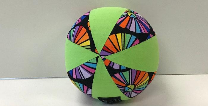 Balloon Ball Small - Coloured Pinwheel with Lime Green Panels