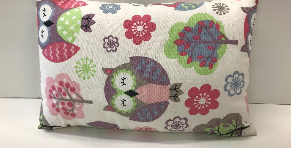 Cuddle Cushion - Owls on Offwhite