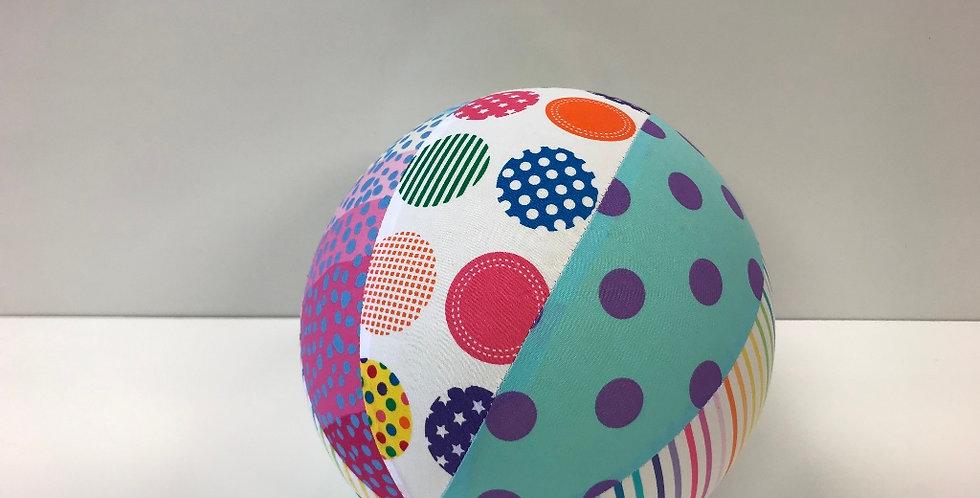 Balloon Ball Medium - Freckles Dots Rainbow Stripes
