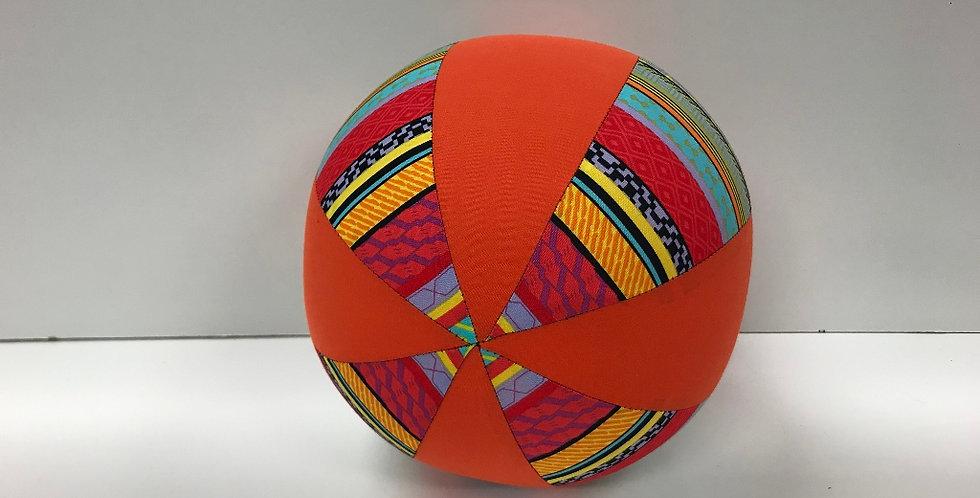 Balloon Ball Medium - Bright Aztec with Orange Panels