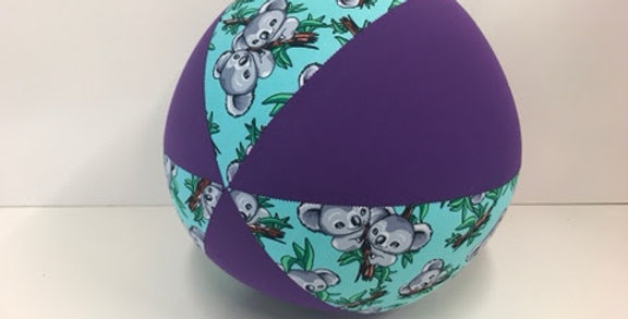 Balloon Ball - Mint Blue Koala Bears with Purple Panels