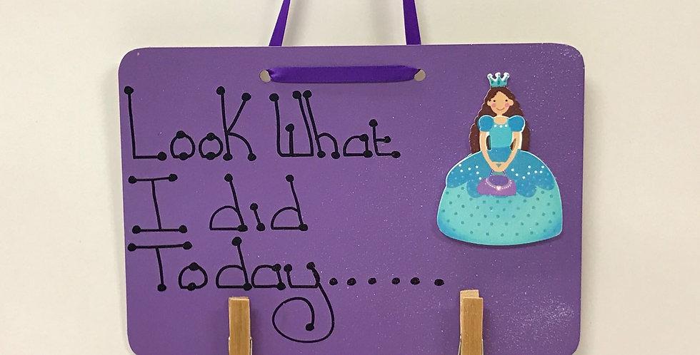 Princess - Purple Board - Glitter - Purple Ribbon