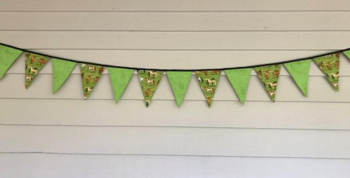 Bunting - Lime Green with Horses