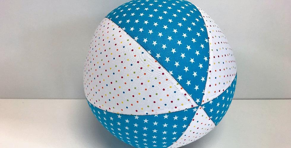 Balloon Ball - White Coloured Dots Aqua White Stars
