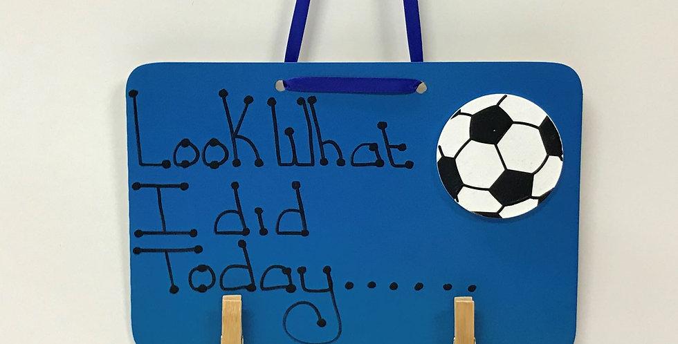 Soccer Ball - Blue Board - Blue Ribbon