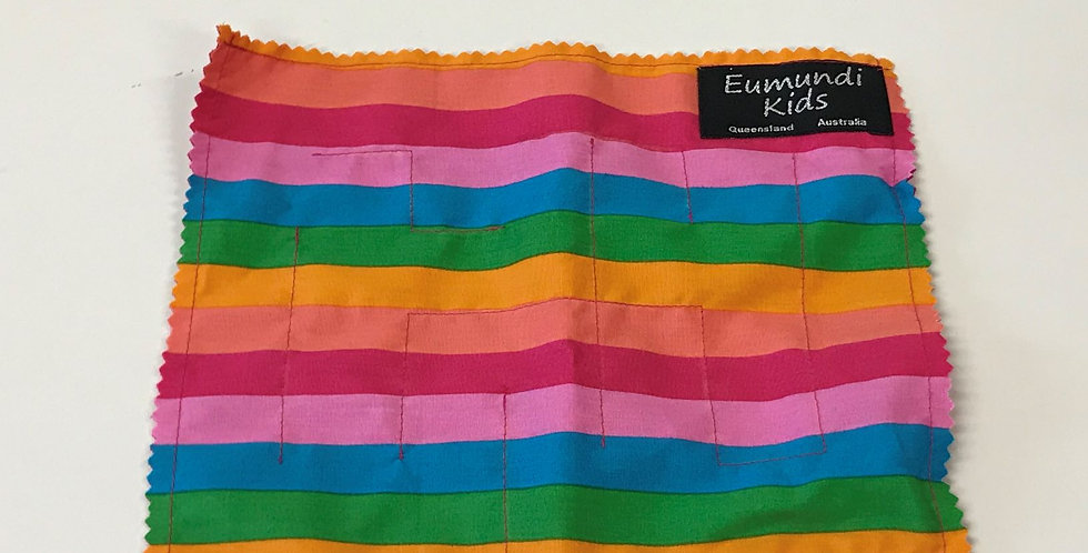 Marble Maze -Rainbow Stripes with Hot Pink Backing