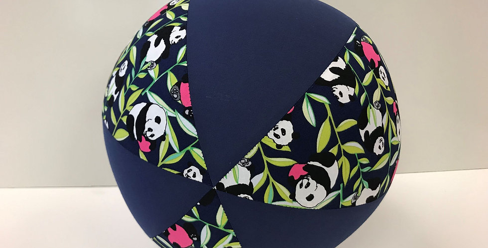 Balloon Ball - Panda Bears on Navy with Navy Panels