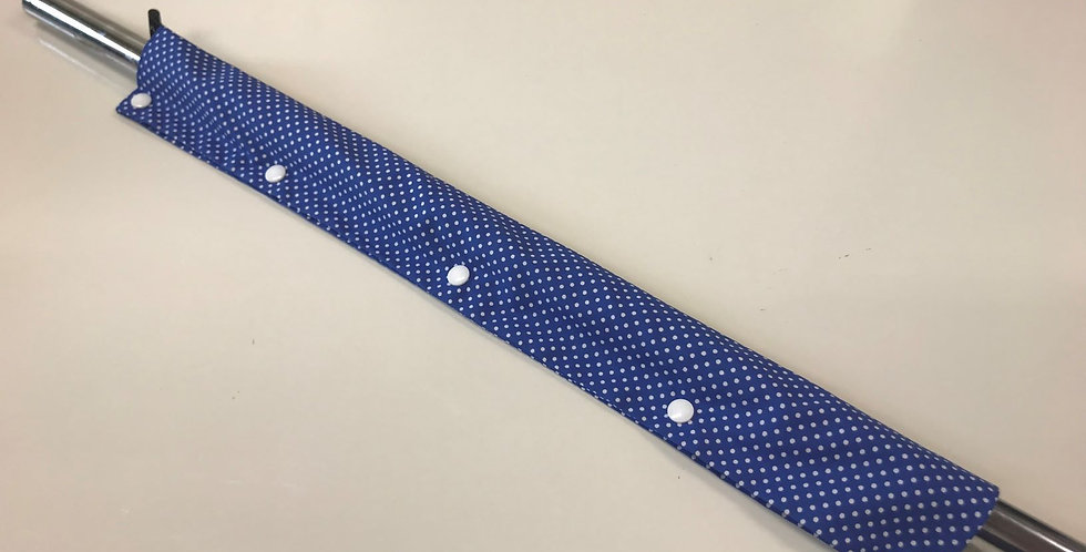 Royal Blue Small White Dots - White Popper Studs