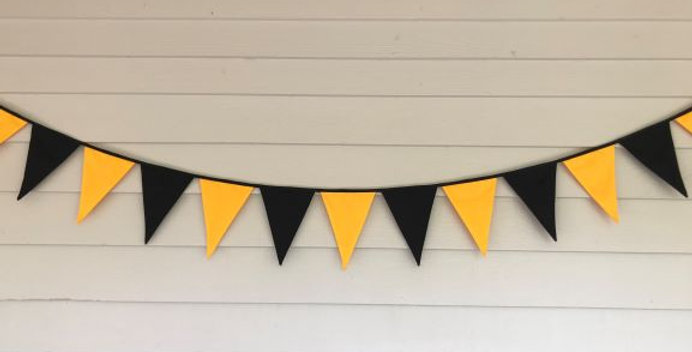 Bunting - Black Yellow Panels - AFL Richmond Tigers