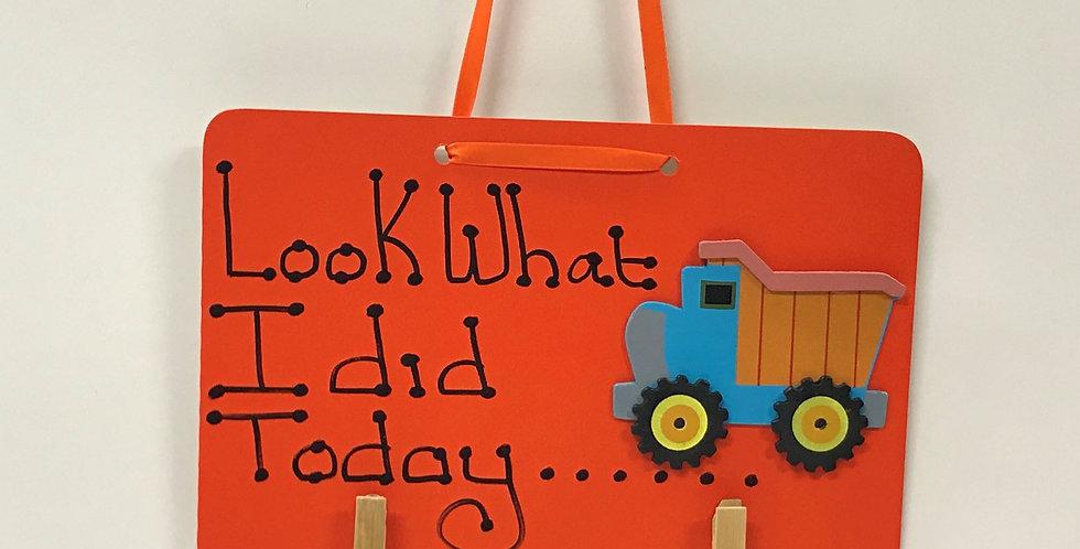 Dump Truck - Orange Board - Orange Ribbon