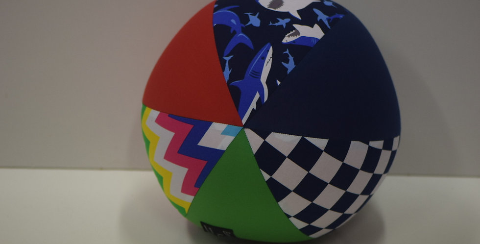 Balloon Ball Large - Chevrons Sharks Checked Red Blue Green Panels