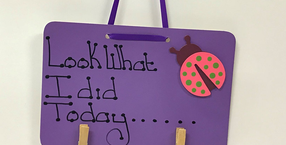 Lady Bug - Purple Board - Purple Ribbon